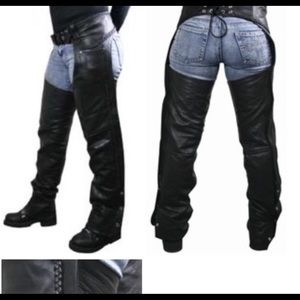 Leather riding chaps